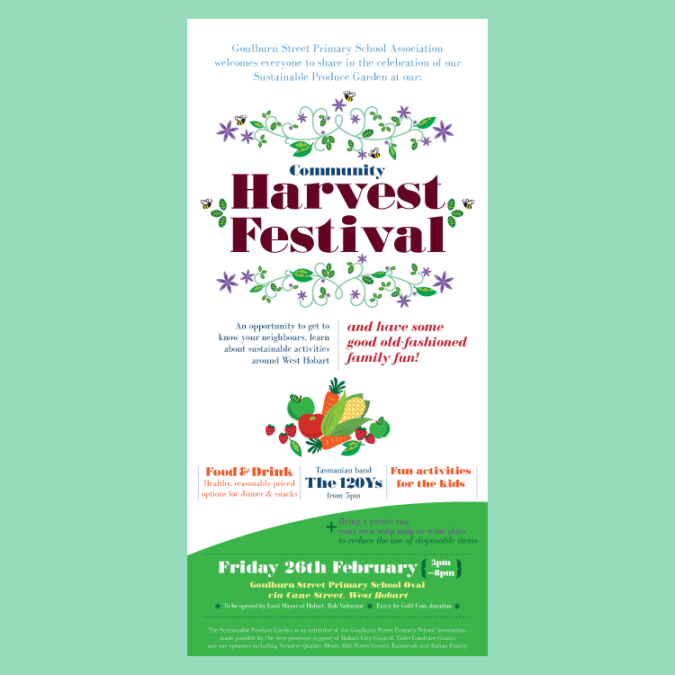 Harvest festival poster and flyer - traceygrady.com