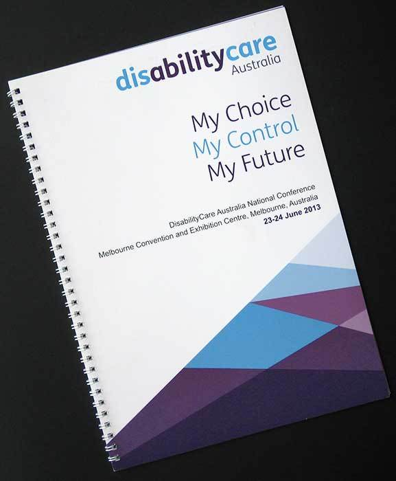 Disability Care Australia conference handbook - Tracey Grady Design