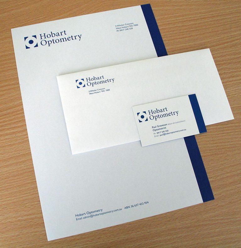 Hobart Optometry branding - traceygrady.com