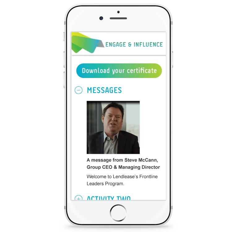 Lendlease training app design - traceygrady.com