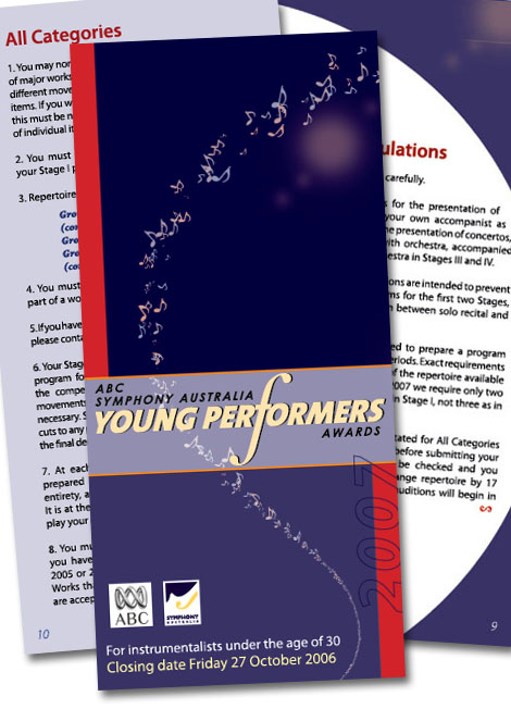 Young Performers Awards program - Tracey Grady Design